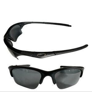 Oakley SI Half Jacket Matte Black Polarized Non-RX Sunglasses